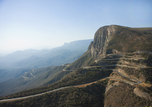 Road To Namibe Town Winding The Mountains, Angola
