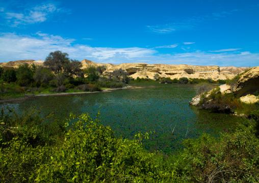Lake Arco freshwater oasis, Namibe Province, Njambasana, Angola