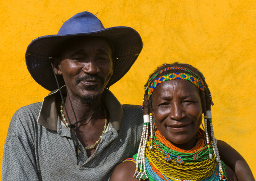 Mumuhuila tribe couple, Huila Province, Chibia, Angola