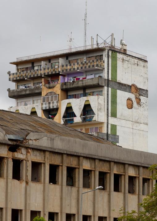 Dilapidated Buildings In Huambo, Angola