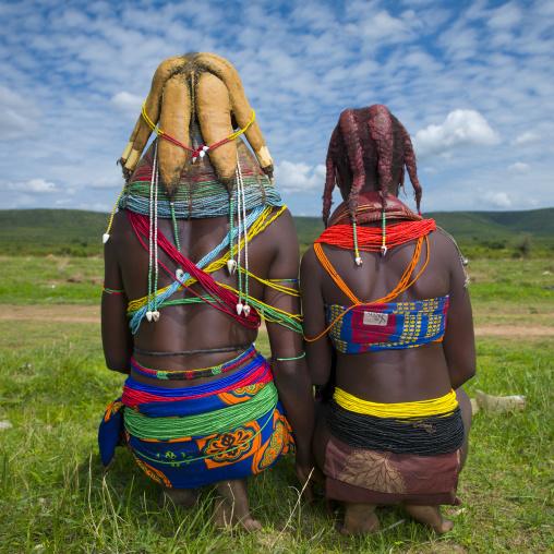 Mwila Sisters With Nontombi Dreadlocks, Chibia Area, Angola