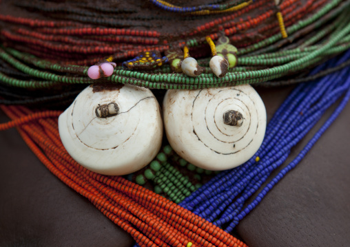 Shell Ornaments On A Vilanda Necklace, Chibia Area, Angola
