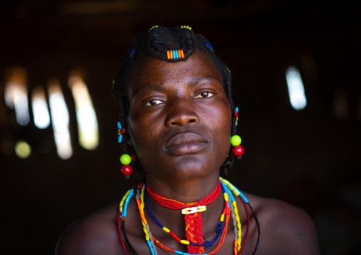 Mudimba tribe woman portrait, Cunene Province, Cahama, Angola