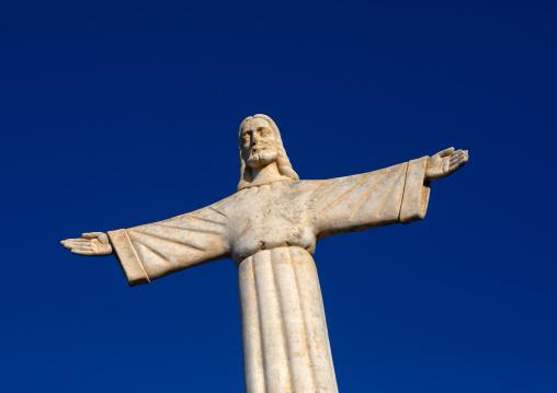 Cristo Rei statue against the blue sky, Huila Province, Lubango, Angola