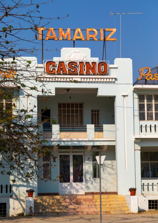 Old portuguese colonial Tamariz casino, Benguela Province, Lobito, Angola