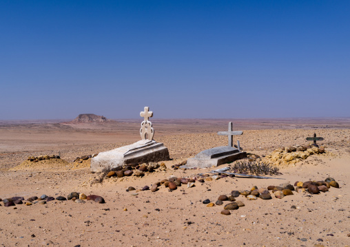 Christian tombs in the desert, Cunene Province, Curoca, Angola