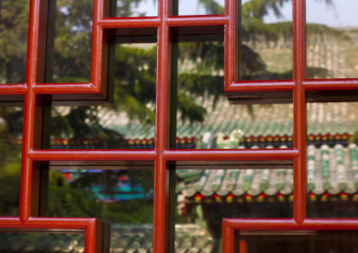Wooden Window In The Forbidden City, Beijing, China