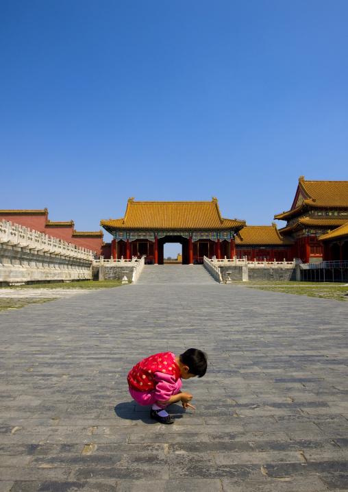Little Girl In The Forbidden City, Beijing, China