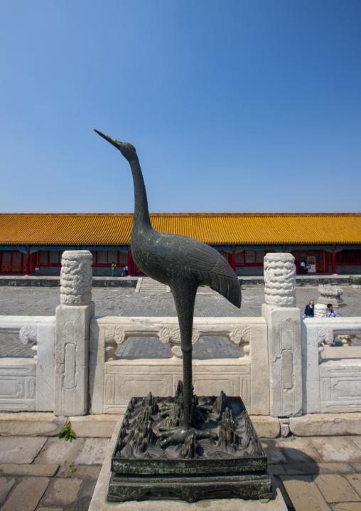 Bird Statue In Forbidden City, Beijing, China