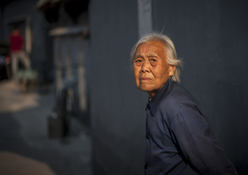 Old Woman In The Hutong, Beijing China