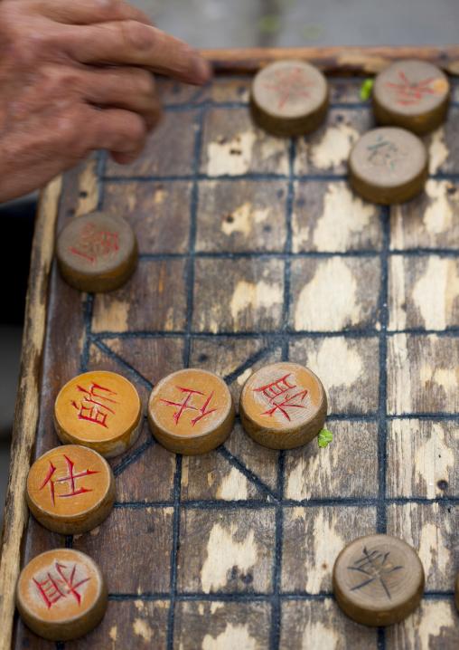 Man Playing Chinese Chess, Beijing, China