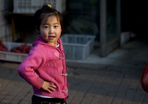 Chinese Girl In The Street, Beijing, China