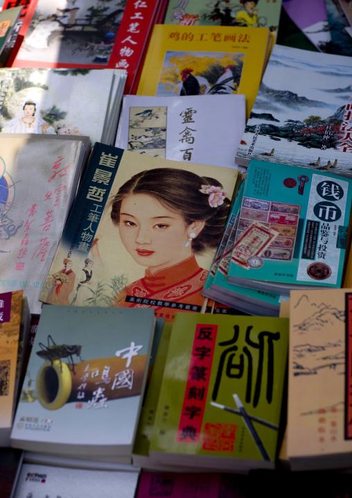 Books At Panjiayuan Antique Market, South Chaoyang. Beijing, China