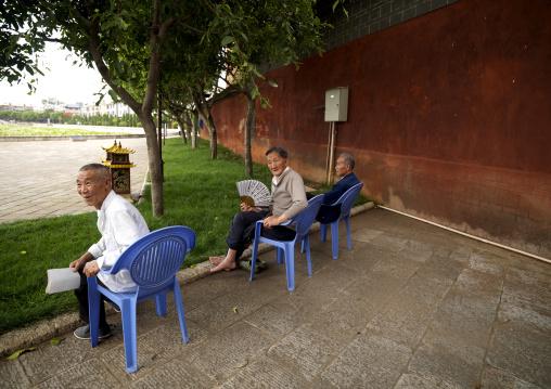 Old People At Confucius Temple, Jianshui, Yunnan Province, China