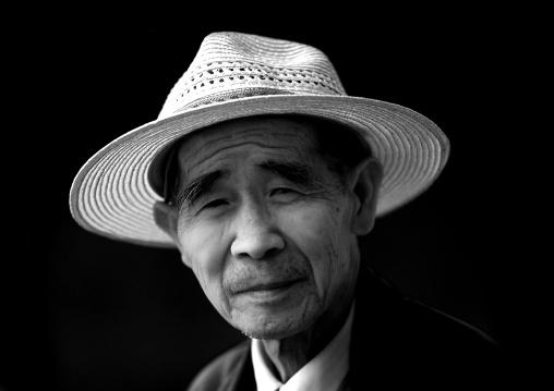 Chinese Man With A Hat, Jianshui, Yunnan Province, China