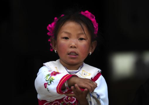 Tibetan Girl, Zhongdian, Yunnan Province, China
