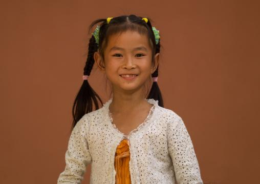 Chinese Girl Smiling, Jianshui, Yunnan Province, China