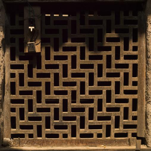 Decorative Antique Wood Carved Windows, Tuan Shan Village, Yunnan Province, China