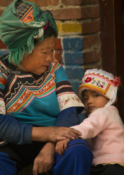 Hani Mother And Kid, Yuanyang, Yunnan Province, China