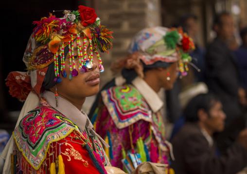 Musicians During A Funeral Procession, Yuanyang, Yunnan Province, China