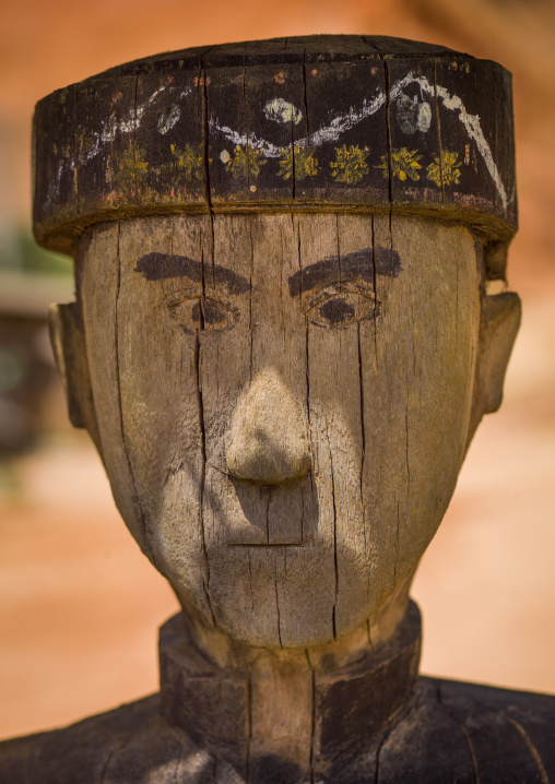 Wood Statue In Jinuo Minority, Yunnan Province, China