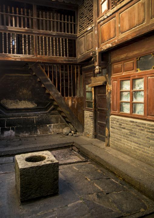 Courtyard Of An Old House, Xizhou, Yunnan Province, China