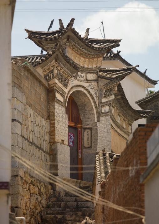 Old Chinese traditional gate, Xizhou, Yunnan Province, China