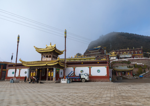 Shachong monastery entrance, Qinghai Province, Wayaotai, China
