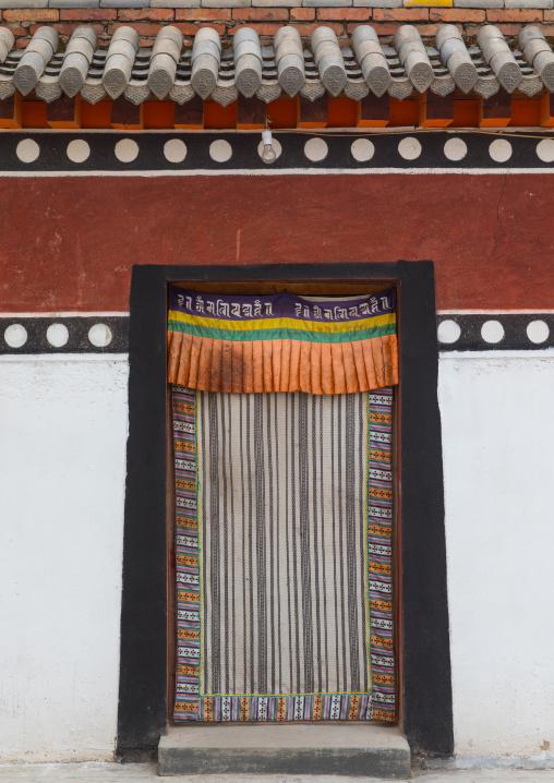 Typical tibetan window in Hezuo monastery, Gansu province, Hezuo, China