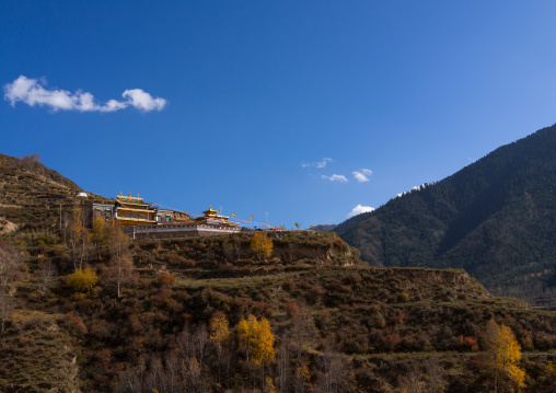 Chong Gon monastery landscape, Tongren County, Longwu, China