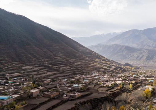 Tibetan village around chonjgon monastery, Tongren County, Longwu, China
