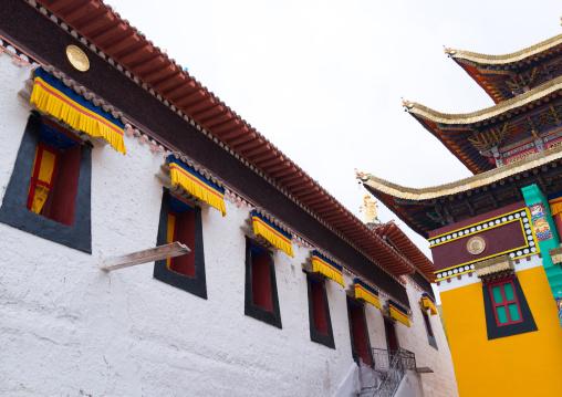 Temple in Rongwo monastery, Tongren County, Longwu, China