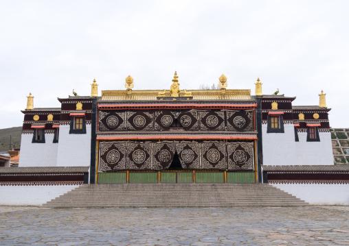 Tibetan temple in Hezuo monastery, Gansu province, Hezuo, China