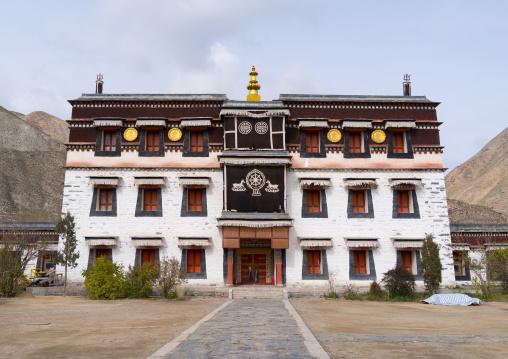 Barkhang traditional printing temple in Labrang monastery, Gansu province, Labrang, China