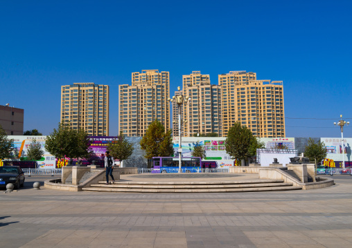 New buildings construction in the city center, Gansu province, Linxia, China
