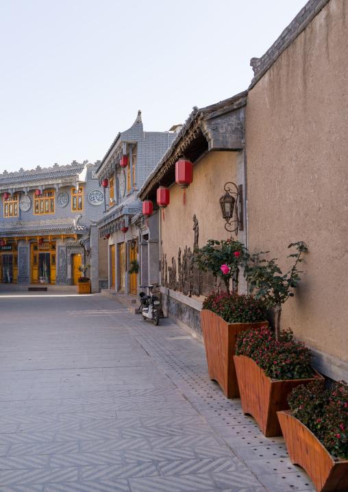 Renovated old chinese quarter, Gansu province, Linxia, China