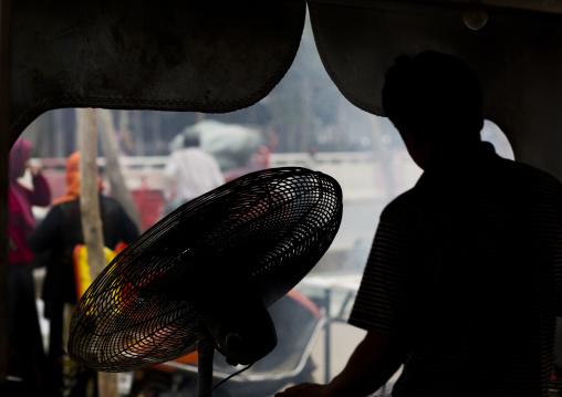View On Market From Inside A Stall, Hotan, Xinjiang Uyghur Autonomous Region, China