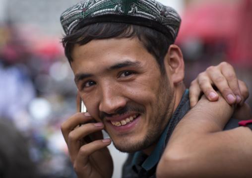 Young Man On The Phone, Hotan, Xinjiang Uyghur Autonomous Region, China