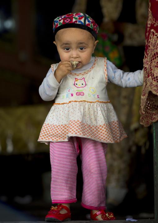 Uyghur Toddler, Xinjiang Uyghur Autonomous Region, China