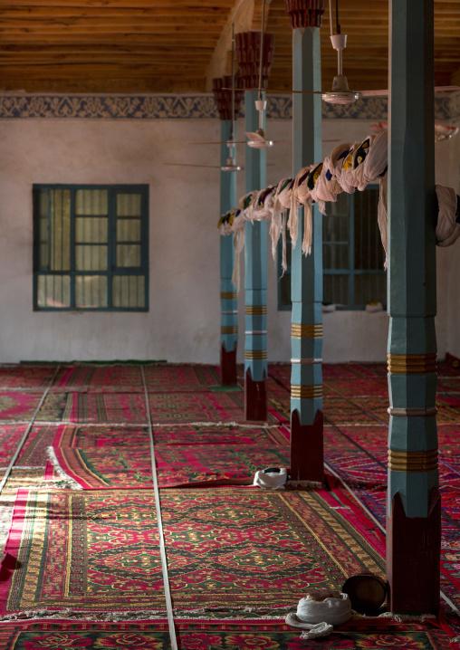 Inside Of A Mosque, Minfeng, Xinjiang Uyghur Autonomous Region, China