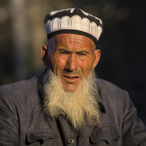 Old Uyghur Man, Yarkand, Xinjiang Uyghur Autonomous Region, China