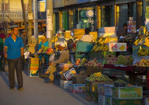 fruits Market Stall, Yarkand, Xinjiang Uyghur Autonomous Region, China