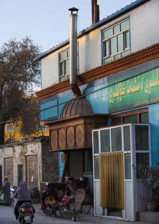 Street kebab Restaurant In Yarkand, Xinjiang Uyghur Autonomous Region, China