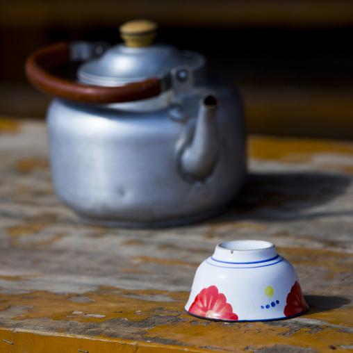 Kettle And Upside Down Tea Cup, Serik Buya Market, Yarkand, Xinjiang Uyghur Autonomous Region, China