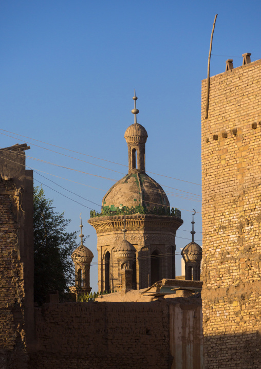 Mosque, Old Town Of Kashgar, Xinjiang Uyghur Autonomous Region, China