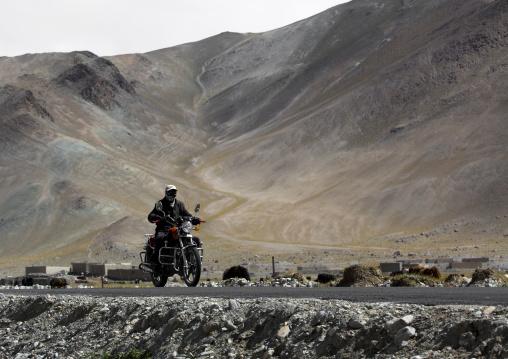 Rider Near Karakul Lake, Xinjiang Uyghur Autonomous Region, China