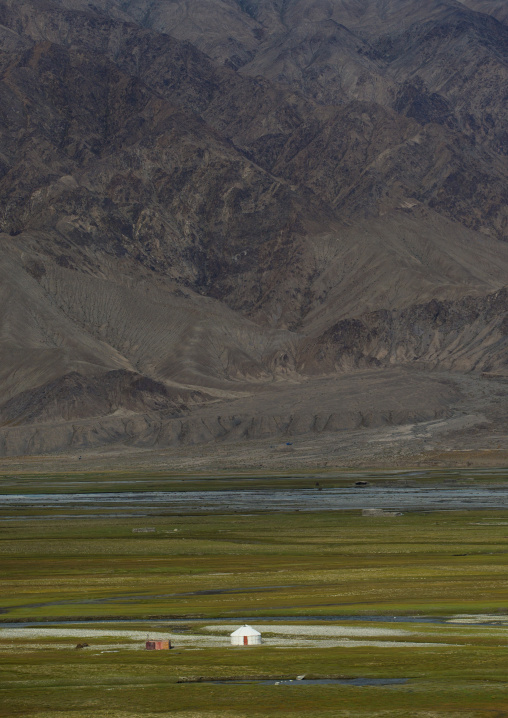 View From The 7Th Century Ruins Of Tashkurgan Fort, Tashkurgan, Xinjiang Uyghur Autonomous Region, China