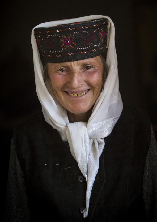 Old smiling Tajik Woman, Xinjiang Uyghur Autonomous Region, China