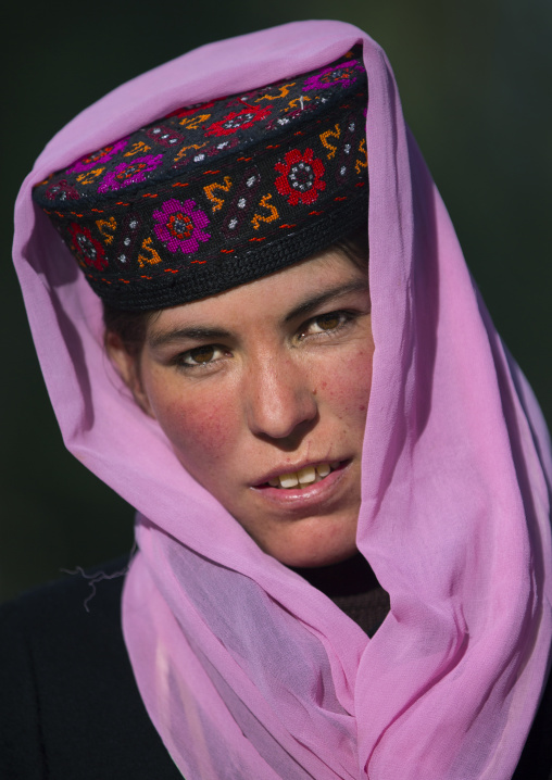 Tajik Woman with pink scarf, Xinjiang Uyghur Autonomous Region, China
