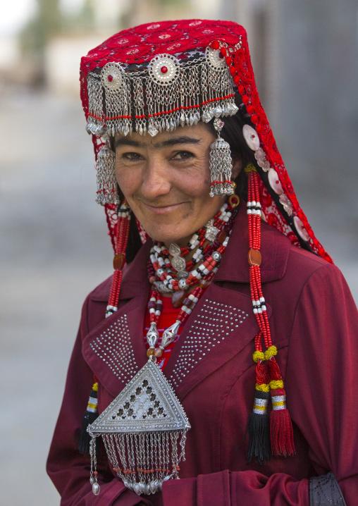 Tajik Woman with jewelery, Xinjiang Uyghur Autonomous Region, China